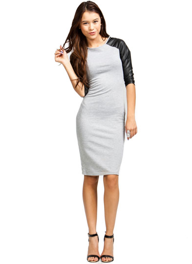 Good Sport Contrast Raglan Dress GREY