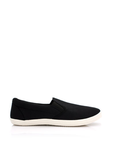 Basic Solid Canvas Skimmers BLACK (Final Sale)