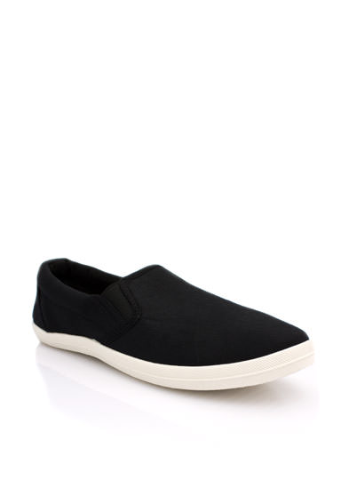 Basically Solid Canvas Skimmers BLACK (Final Sale)