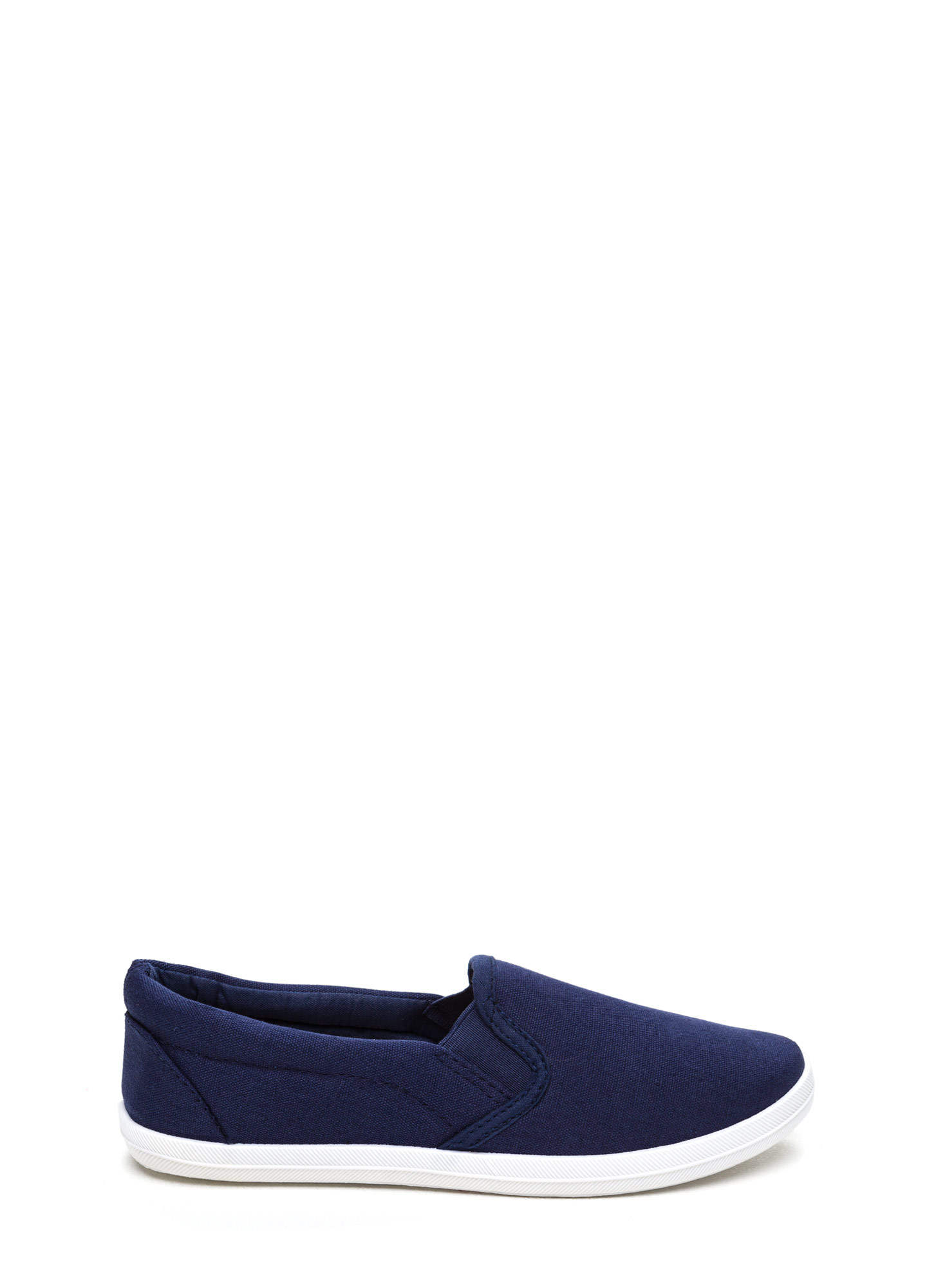 Basic Solid Canvas Skimmers NAVY (Final Sale)