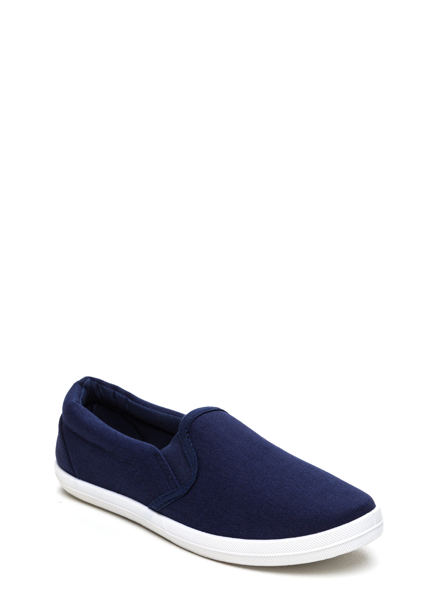 Basically Solid Canvas Skimmers NAVY (Final Sale)