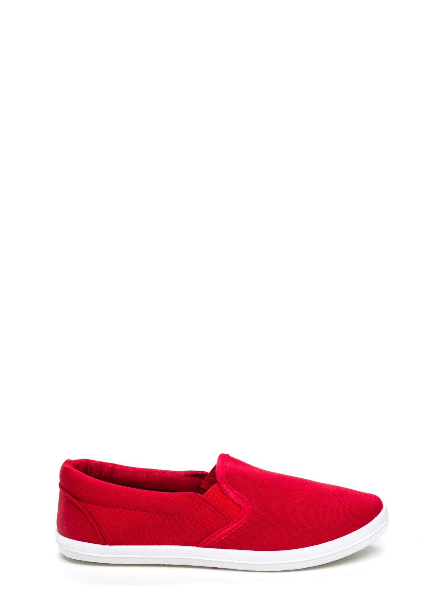 Basically Solid Canvas Skimmers RED (Final Sale)