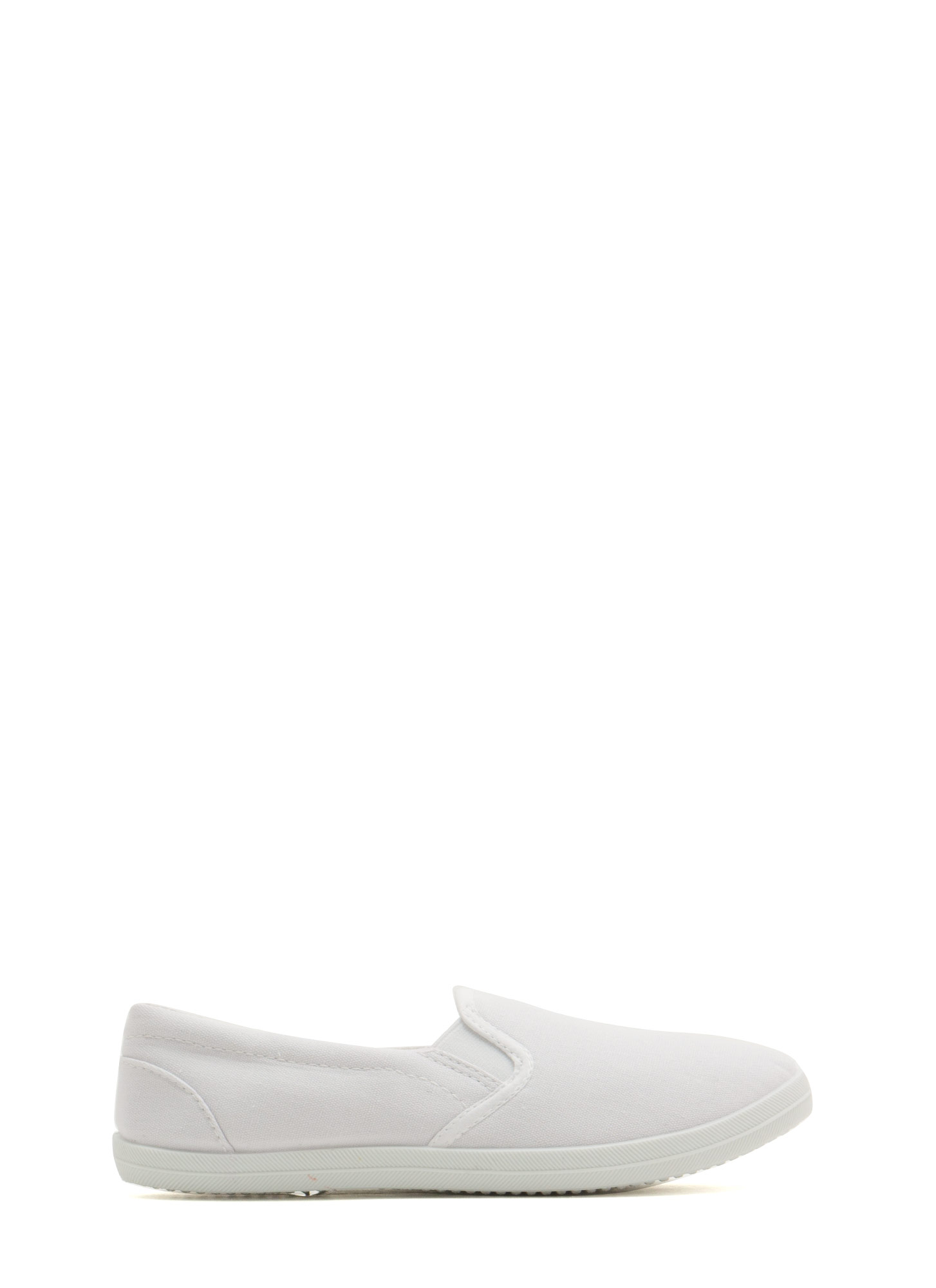 Basic Solid Canvas Skimmers WHITE (Final Sale)