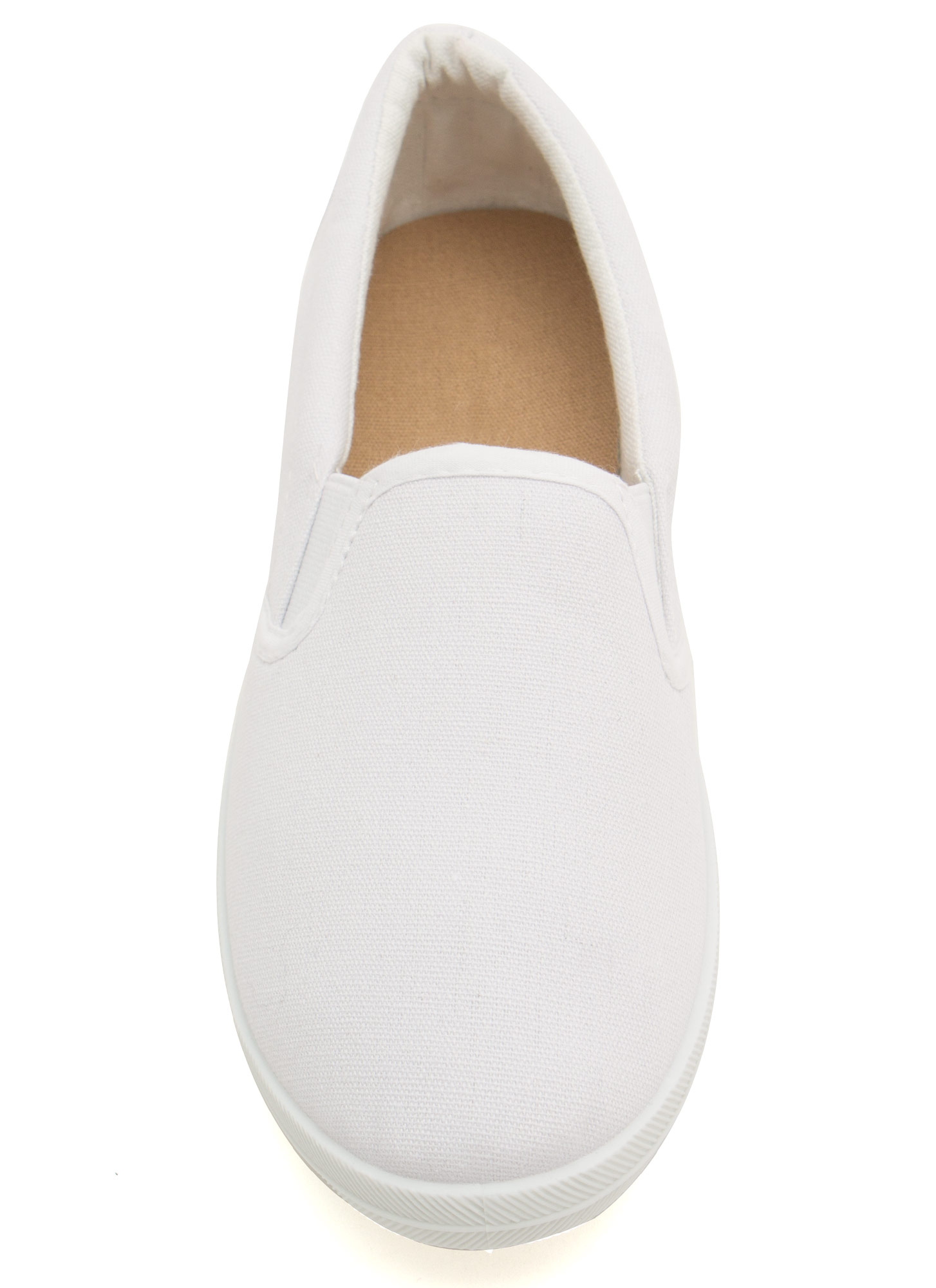 Basic Solid Canvas Skimmers WHITE