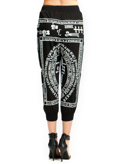 Symbolism Graphic Sweatpants BLACK