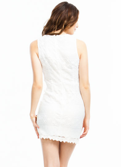 All Laced Up Dress OFFWHITE