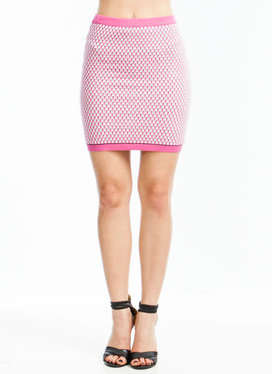 Seed Knit Sweater Skirt PINK