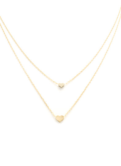 Heart To Heart Layered Necklace GOLD