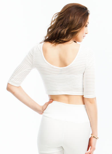 Sheer Thing Cropped Top WHITE