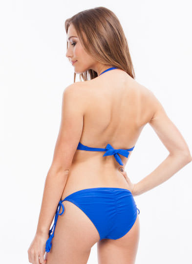 Fringe Benefits Bandeau Bikini Top ROYALBLUE