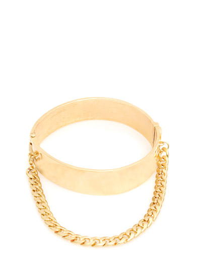 On The Hinge Chained Arm Cuff GOLD