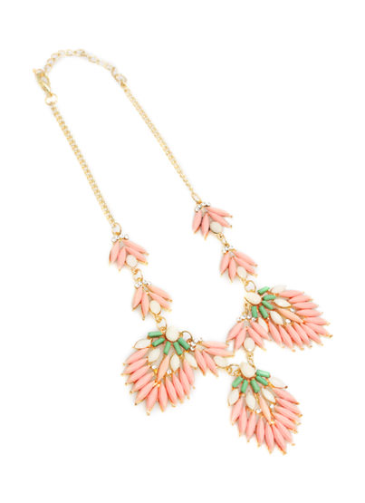 Modern Marie Necklace PEACH