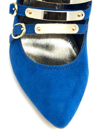 On A Golden Platter Faux Suede Booties BLUE
