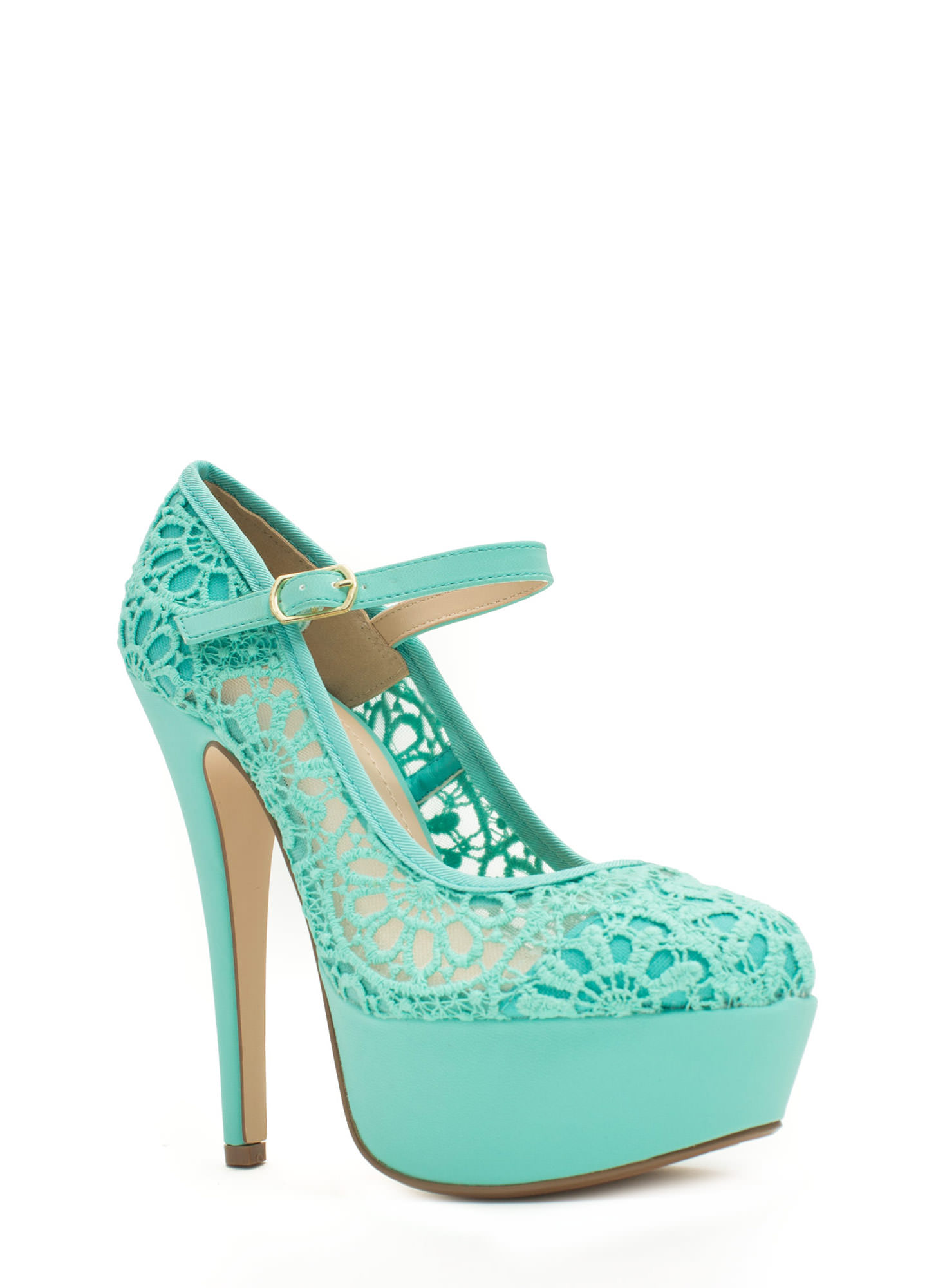 Lace Base Mary Jane Pumps MINT