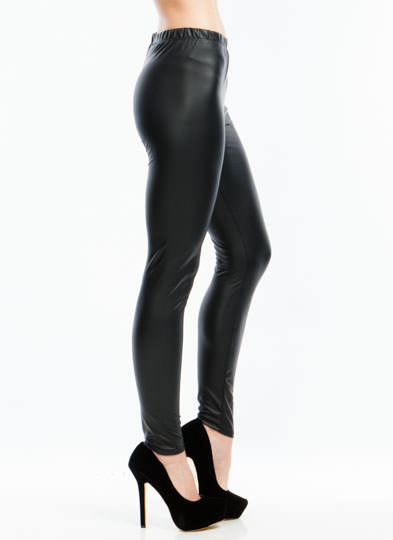 Slick Move High-Waisted Leggings BLACK