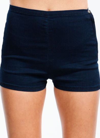 Basic Level Denim Shorts INDIGO
