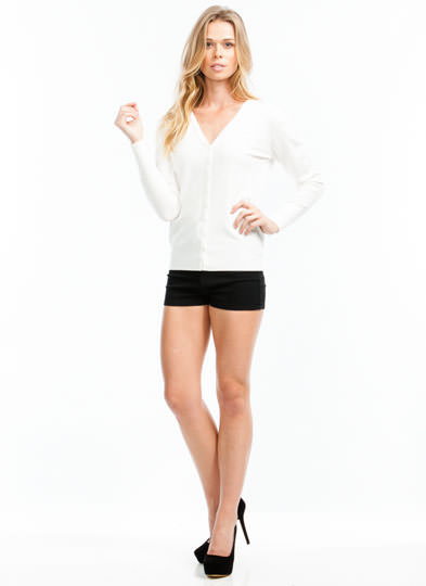 Keep It Simple Denim Shorts BLACK (Final Sale)