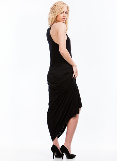 Slip Away Strappy Cami Maxi Dress BLACK