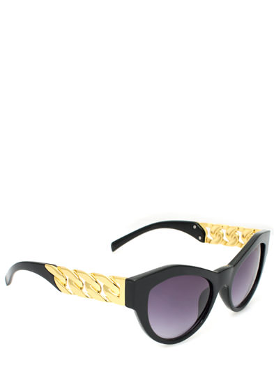 Chain-ge of Pace Cat Eye Sunglasses BLACK
