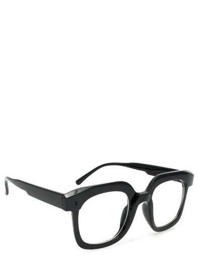 Square Deal Glasses BLACK