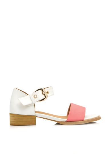 Wide Strap Low Heeled Sandals PINK