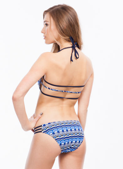 Geometric Tribe Vibe Bikini Set BLUE (Final Sale)