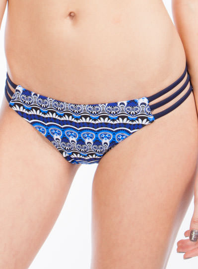 Geometric Tribe Vibe Bikini Set BLUE