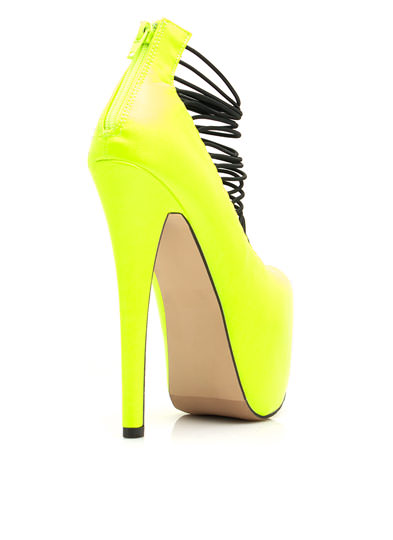 Skyscraper Platform Heels NEONYELLOW (Final Sale)