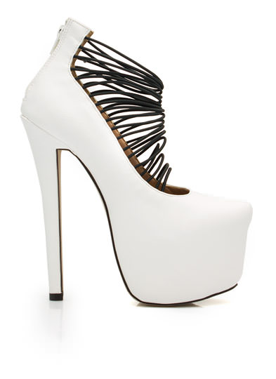 Skyscraper Platform Heels WHITE (Final Sale)