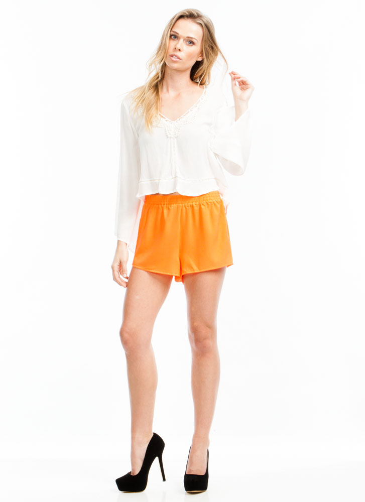 Race Ready Open Mesh Side Shorts NEONORANGE