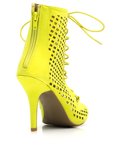 Perforated Cut-Out Heels LIME