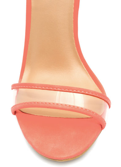Clear The Way Ankle Strap Heels CORAL