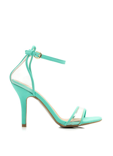 Clear The Way Ankle Strap Heels MINT
