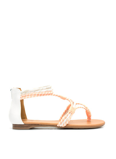 Come Slither Sandals WHITE