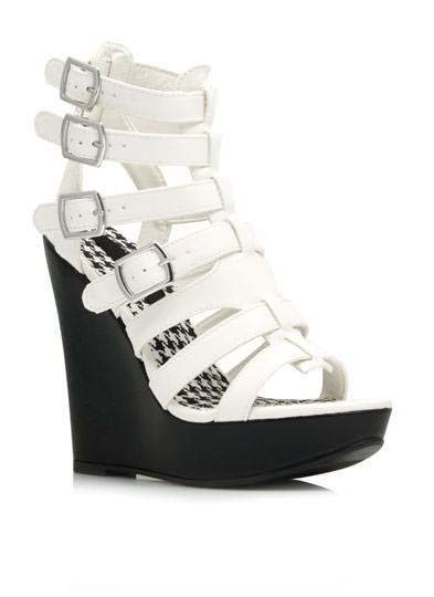 Strap It Down Wedges WHITE