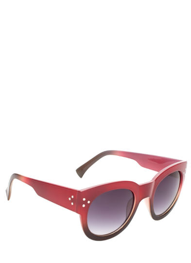Around and Around Ombre Sunglasses RED