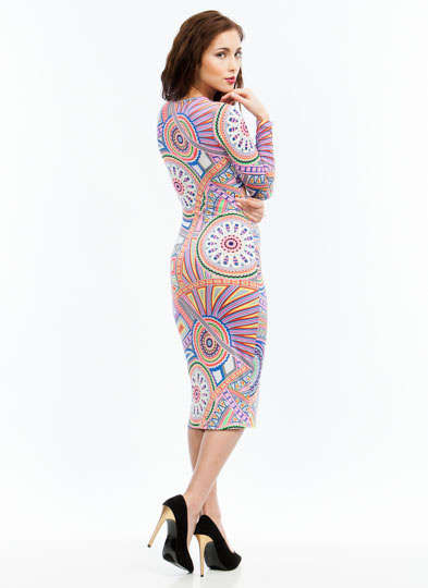 Going Psychedelic Midi Dress PINK