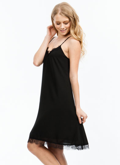 Trace Of Lace Cami Dress BLACK