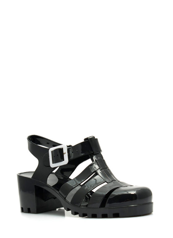 Totally Nineties Jelly Sandals BLACK