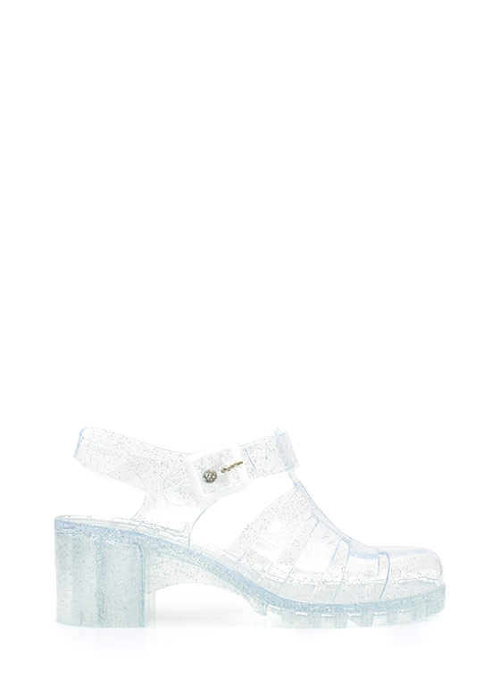 Totally Nineties Jelly Sandals CLEAR