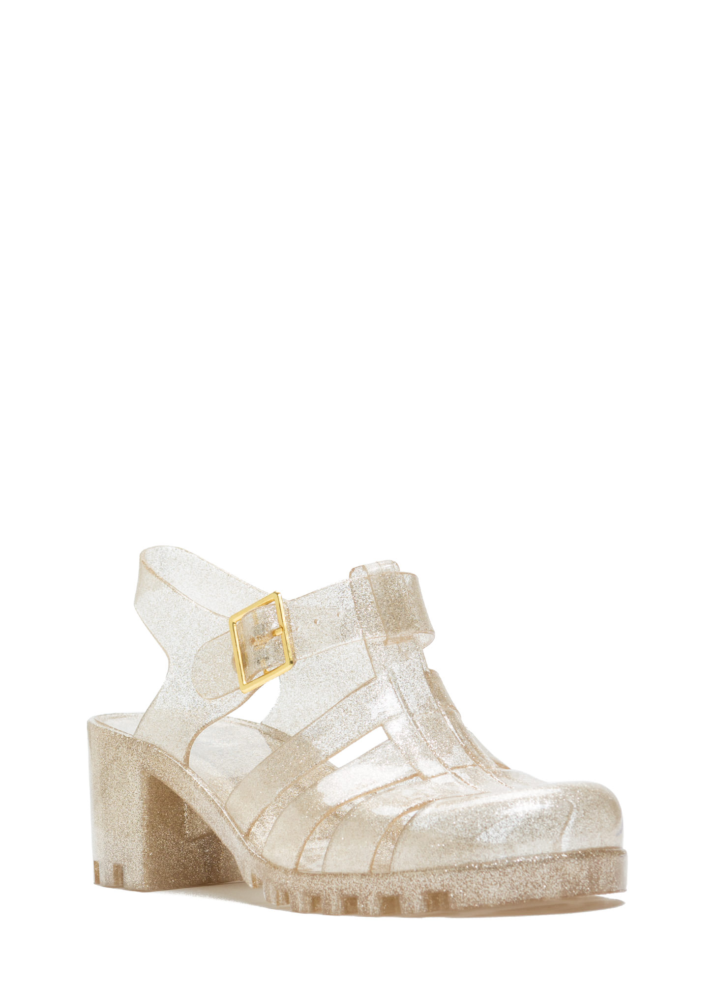 Totally Nineties Jelly Sandals GOLD