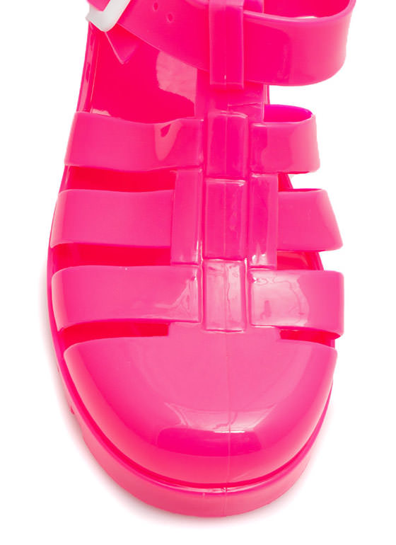 Totally Nineties Jelly Sandals HOTPINK