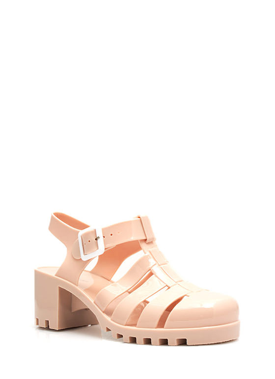 Totally Nineties Jelly Sandals NUDE