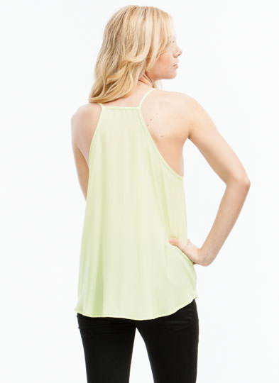 Let's Wrap Strappy Surplice Top YELLOW