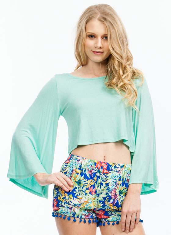 Ring My Bell Sleeve Rayon Top MINT