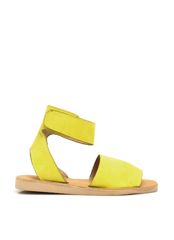 Smooth Sailing Ankle Cuff Sandals LIME