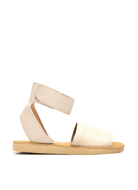 Smooth Sailing Ankle Cuff Sandals NUDE