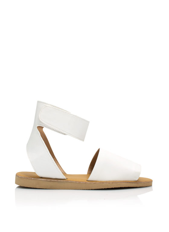 Smooth Sailing Ankle Cuff Sandals WHITE