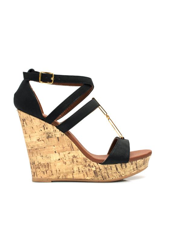 Double Plate Accent Wedges BLACK