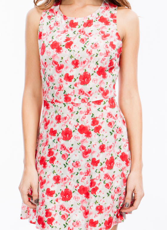 Painted Blossom Crossback Dress TAUPEPINK